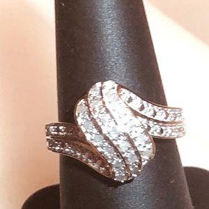 Beautiful .52ctw H-SI Diamonds 14k/925 Dinner Ring